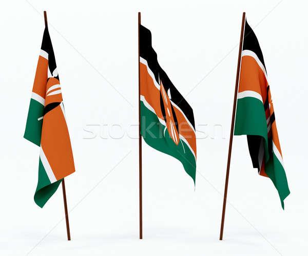 Bandera Kenia blanco cultura objetos banner Foto stock © anyunoff