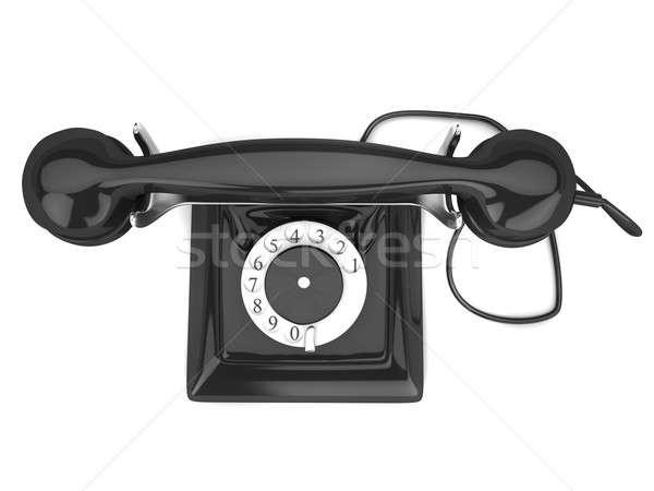 старые телефон модель изолированный белый телефон Сток-фото © anyunoff