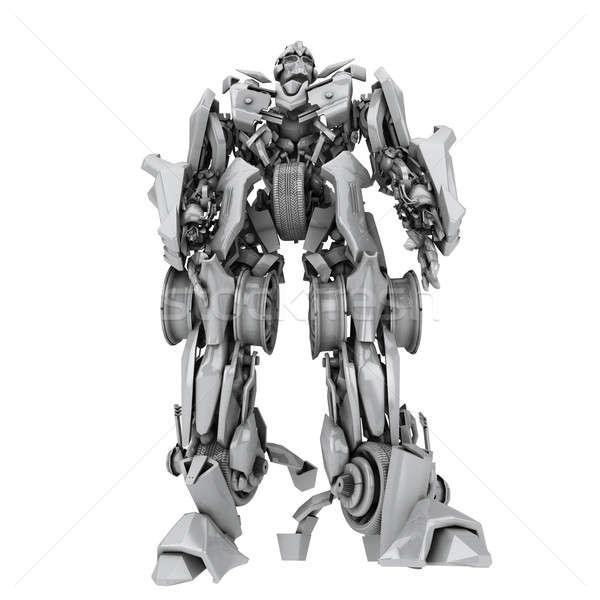Robot isolato bianco rendering 3d tecnologia giocattoli Foto d'archivio © anyunoff