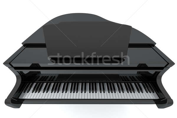 Kuyruklu piyano siyah yalıtılmış ışık müzik klavye Stok fotoğraf © anyunoff