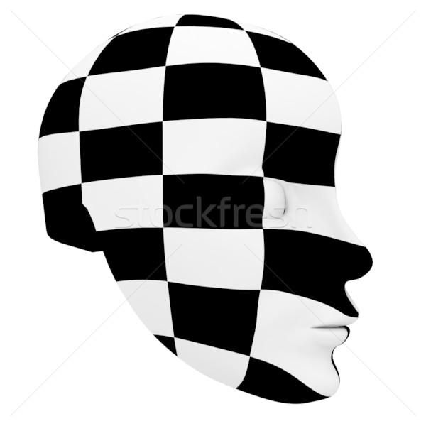 Teatrale maschera bianco nero isolato bianco Foto d'archivio © anyunoff