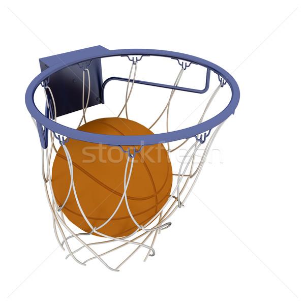 Basketbol iki yalıtılmış beyaz spor oynamak Stok fotoğraf © anyunoff