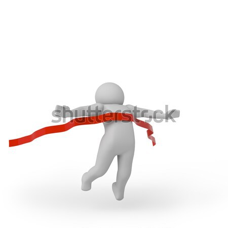 3d person crossing the finishing line. 3D rendering Stock photo © AptTone