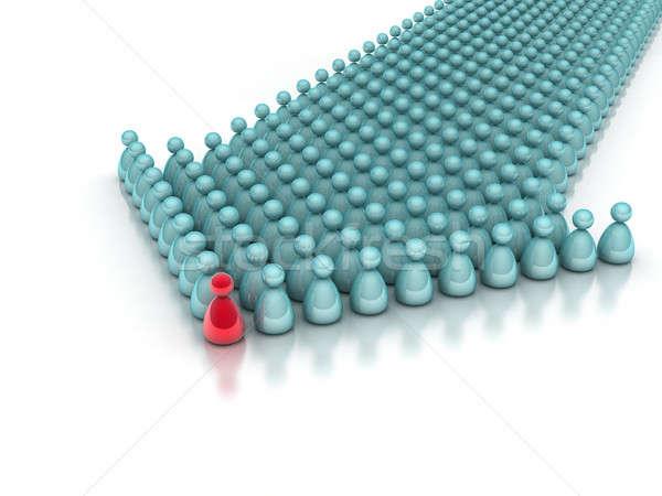 Business leiderschap team geïsoleerd witte abstract Stockfoto © AptTone