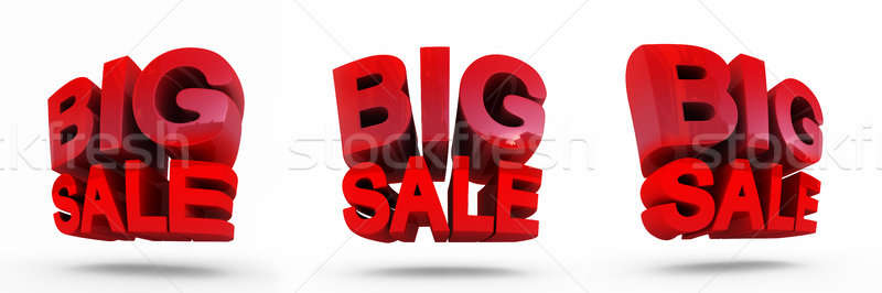3D render of Big Sale Word. Concept of discount. It's better to use for promotion. Stock photo © AptTone