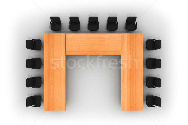Conférence table chaises isolé blanche affaires Photo stock © AptTone