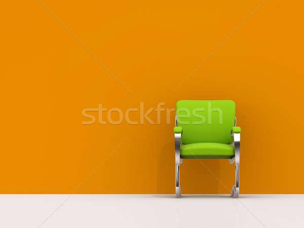 Photo stock: Président · orange · mur · vert · affaires · maison