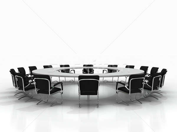 conference table isolated on white background Stock photo © AptTone
