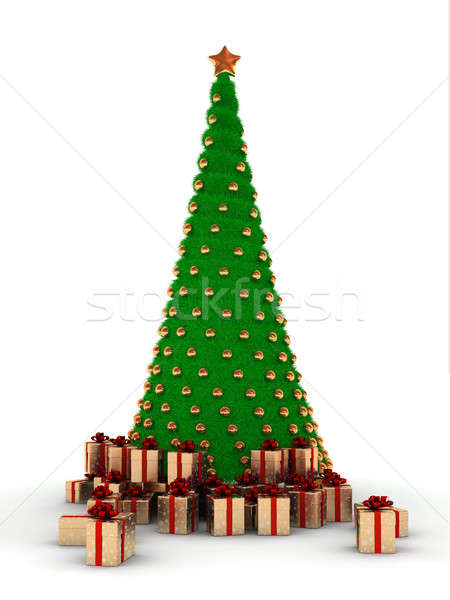 Christmas tree with decorations Stock photo © AptTone