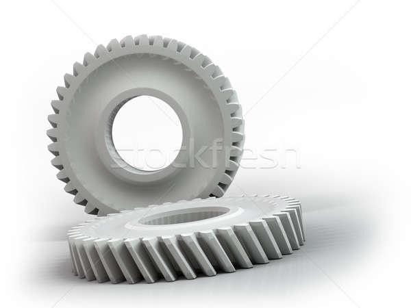 Plastica attrezzi isolato bianco arte industriali Foto d'archivio © AptTone