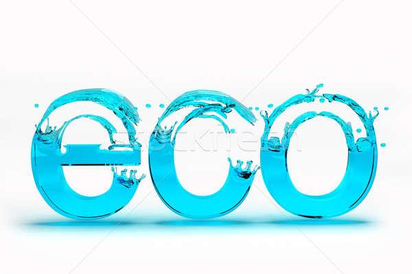 3D eco tekst opslaan ecologie witte Stockfoto © AptTone