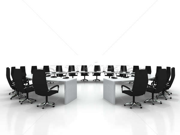 conference table and chairs with microphones Stock photo © AptTone