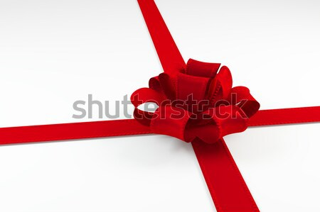red ribbon tie in a bow isolated on white background. Stock photo © AptTone