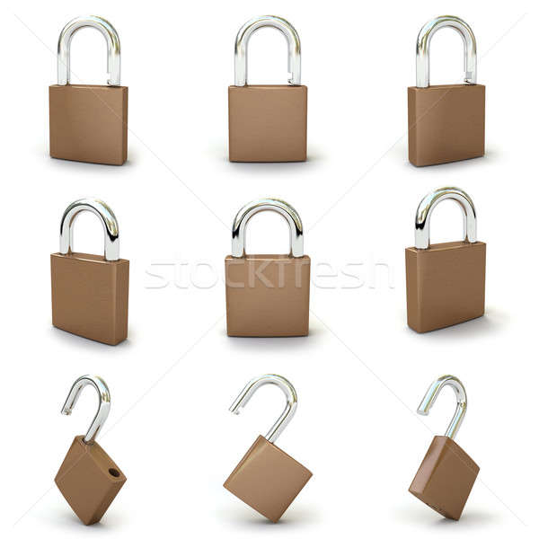 set with padlocks Stock photo © AptTone