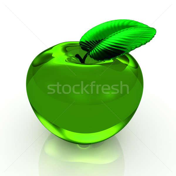 Groene appel geïsoleerd witte 3d render energie Stockfoto © AptTone