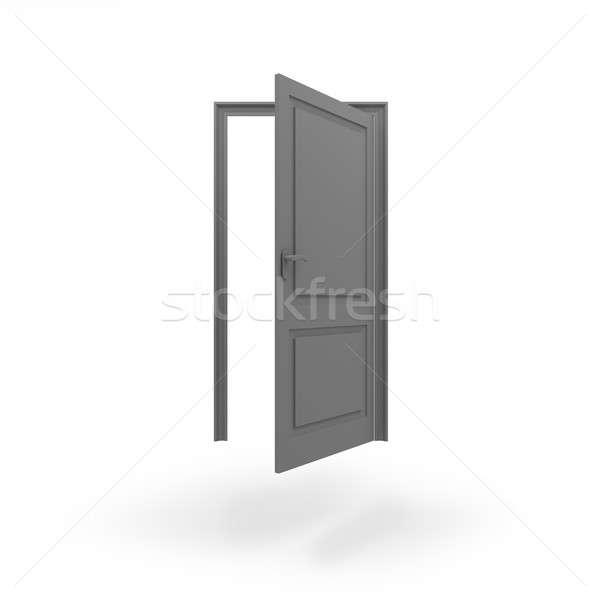 Deur icon geïsoleerd witte 3D Stockfoto © AptTone