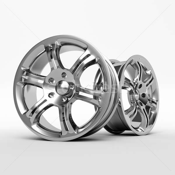 Aluminium Alloy rims, Car rims. 3D rendering. Stock photo © AptTone