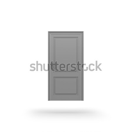 Door icon. 3D rendering. Stock photo © AptTone