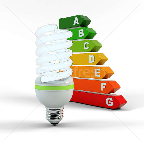 Ecology environment and saving energy, fluorescent light bulb concept of successful business. Energy Stock photo © AptTone