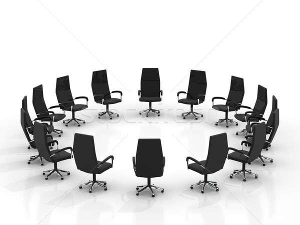 Stoelen geïsoleerd witte kantoor kamer Stockfoto © AptTone