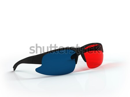 Plastic anaglyph glasses. Stock photo © AptTone