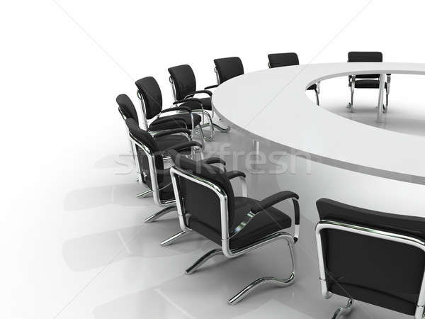 Stock photo: conference table and chairs