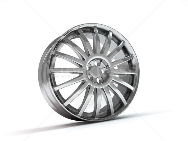 Car wheel  on white background. Stock photo © AptTone