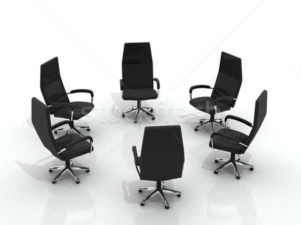 chairs arranging round Stock photo © AptTone