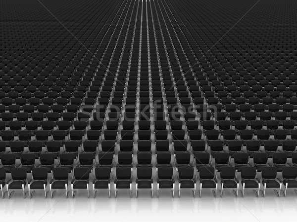 Groot hal stoelen lege business concert Stockfoto © AptTone