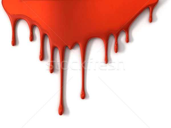 Czerwony farby odizolowany biały sztuki Zdjęcia stock © AptTone