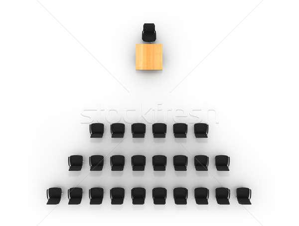 Gestileerde foto lege conferentiezaal hoog kwaliteit Stockfoto © AptTone