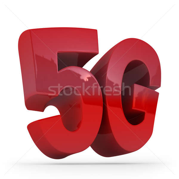 Big red letters 5G on white background. Stock photo © AptTone