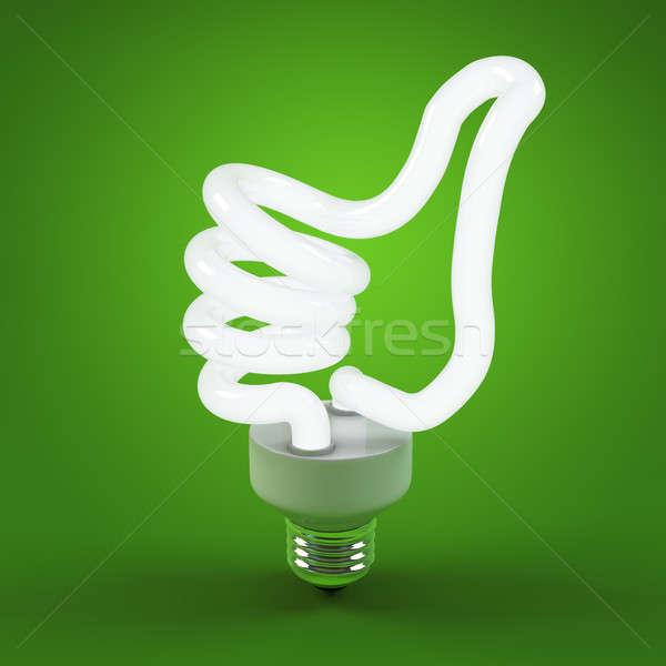Ecologie milieu besparing energie gloeilamp geslaagd Stockfoto © AptTone