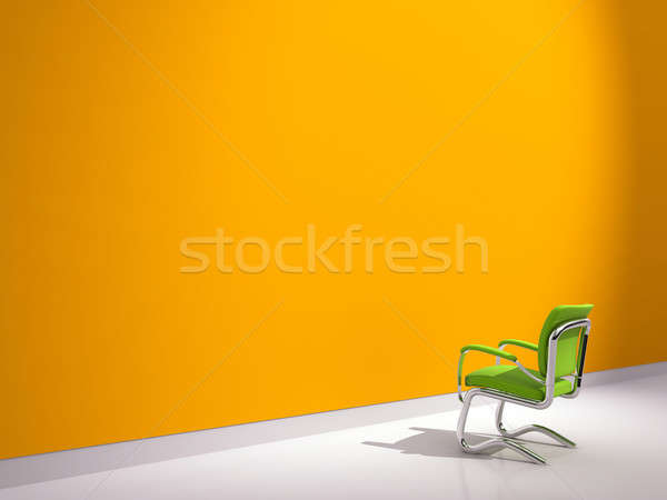 Photo stock: Président · orange · mur · vert · affaires · maison