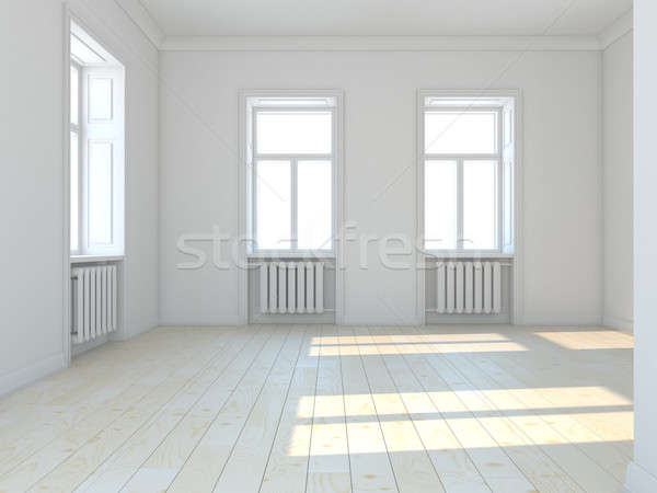 Empty classic white  room with windows Stock photo © AptTone