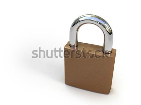 Foto stock: Trancar · isolado · branco · cadeado · segurança · alto