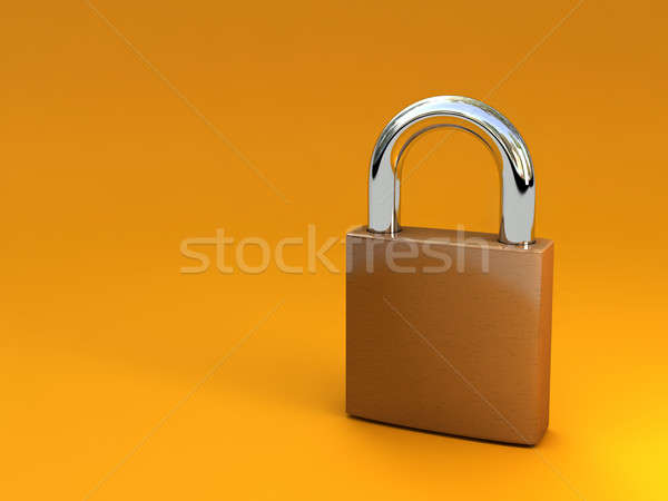 lock isolated on white Stock photo © AptTone