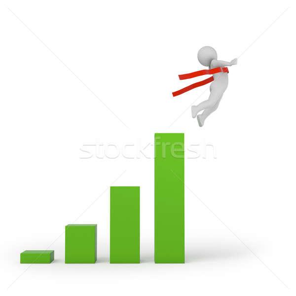 Aller élevé qualité rendu 3d affaires Photo stock © AptTone