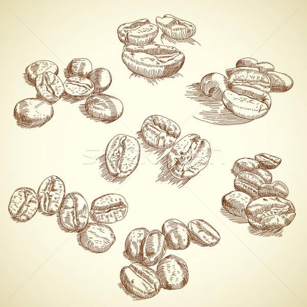 Kávébab illusztráció hasznos designer munka természet Stock fotó © Aqua