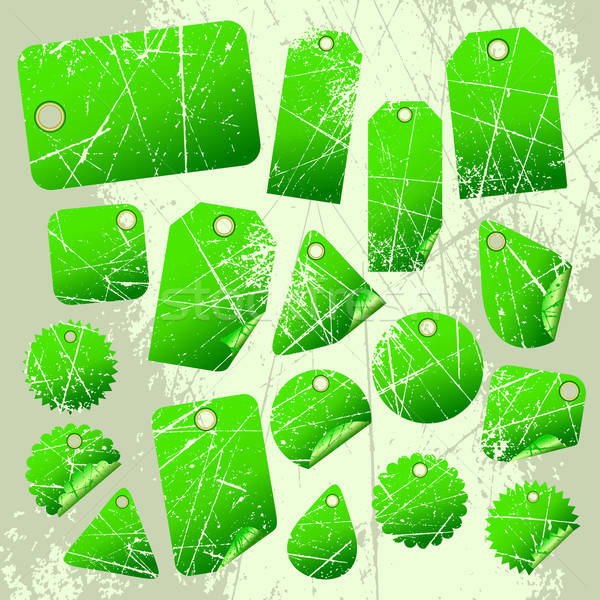 Foto stock: Conjunto · verde · ilustração · útil · estilista