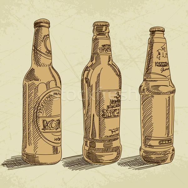 Birra illustrazione utile designer lavoro luce Foto d'archivio © Aqua