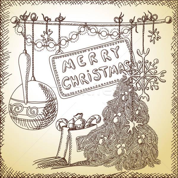 Noël illustration peuvent utilisé fond wallpaper Photo stock © Aqua
