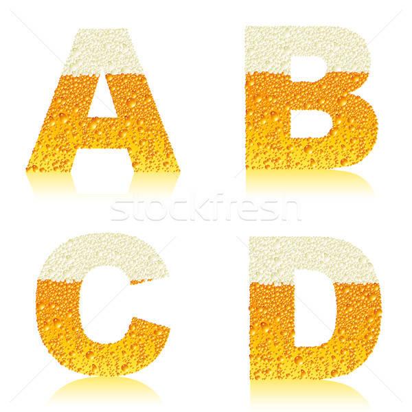 alphabet beer ABCD Stock photo © Aqua