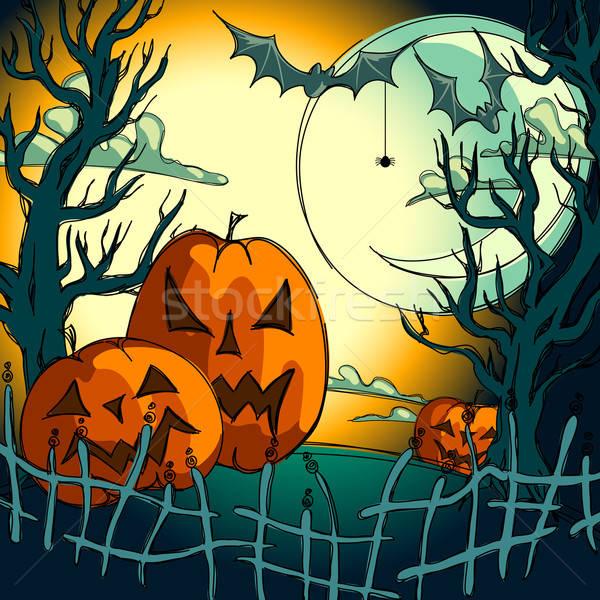Halloween illustratie nuttig ontwerper werk boom Stockfoto © Aqua