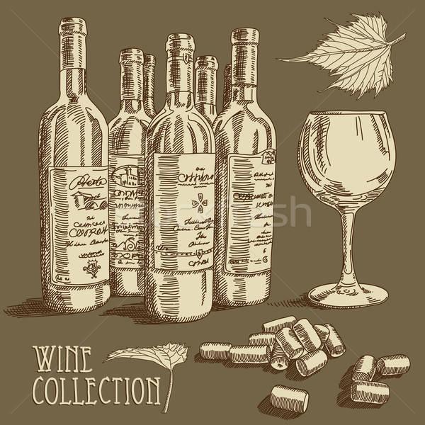 ワイン コレクション 実例 ガラス ドリンク アルコール ストックフォト © Aqua