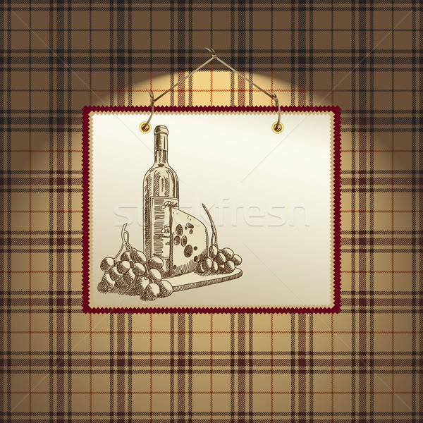 Vinho ilustração útil estilista trabalhar papel Foto stock © Aqua