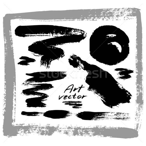 Arte elementos abstrato conjunto papel projeto Foto stock © Aqua