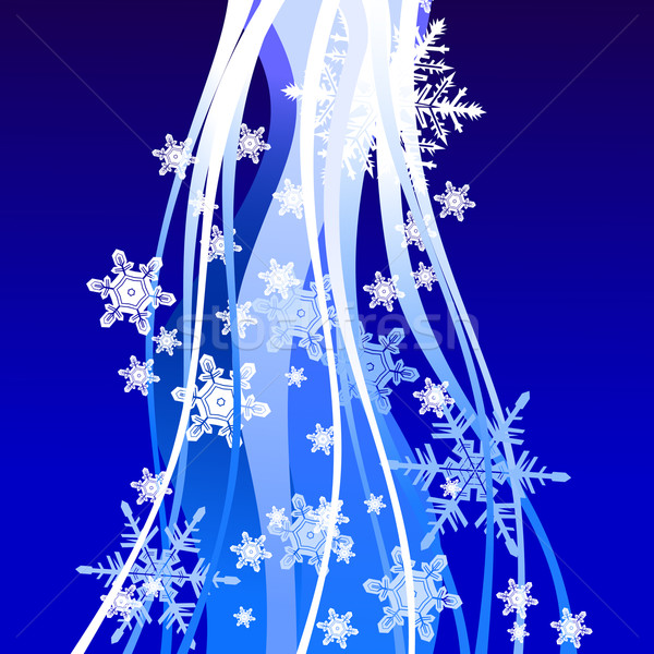 Inverno illustrazione utile designer lavoro albero Foto d'archivio © Aqua
