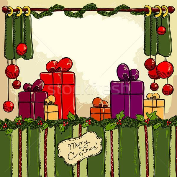 Natale vintage illustrazione può usato felice Foto d'archivio © Aqua