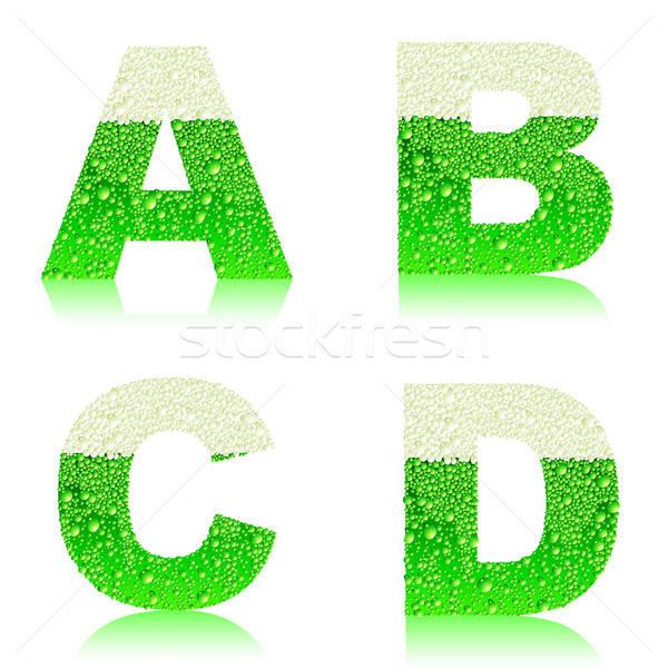 アルファベット 緑 ビール 実例 便利 デザイナー ストックフォト © Aqua